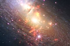 Outer space art. Nebulas, galaxies and bright stars in beautiful composition. Elements of this image furnished by NASA royalty free stock images