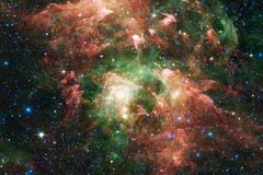 Outer space art. Nebulas, galaxies and bright stars in beautiful composition. Elements of this image furnished by NASA stock image