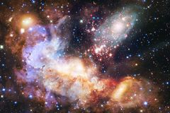 Outer space art. Nebulas, galaxies and bright stars in beautiful composition. Elements of this image furnished by NASA stock images