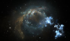 Outer space background with nebula and stars Royalty Free Stock Images
