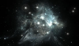 Outer space background with nebula and stars Stock Photography