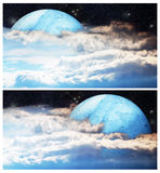 Outer space banners Royalty Free Stock Photography