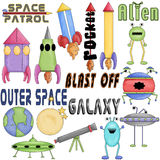 Outer Space Clipart Graphics Stock Photo