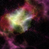 Outer space cloud nebula and stars Royalty Free Stock Image