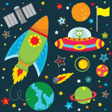 Outer Space Design Elements. A Vector Illustration of Outer Space Design Elements Royalty Free Stock Photography