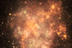 Outer space dust orange colors royalty free stock images