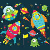 Outer Space Element set Stock Photos