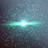 Outer Space Exlosion Vector Effect Royalty Free Stock Image