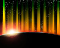 Outer space in flames Royalty Free Stock Photos