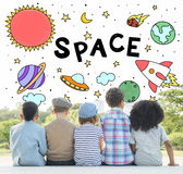 Outer Space Icons Drawing Graphics Concept Stock Image