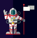 Outer space. Illustration in style flat Royalty Free Stock Image