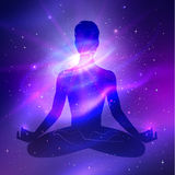 Outer space. Meditation Stock Photo