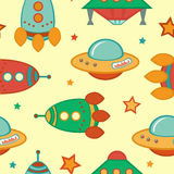 Outer space pattern Royalty Free Stock Photos