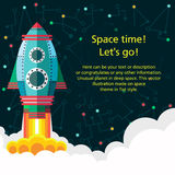Outer space. Pattern texture in style flat Stock Photography