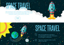 Outer space. Pattern texture in style flat Royalty Free Stock Image