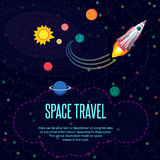Outer space. Pattern texture in style flat Stock Photo