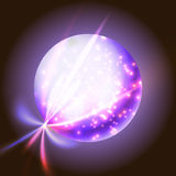 Outer space puple planet Stock Photo