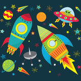 Outer Space Set Royalty Free Stock Photo