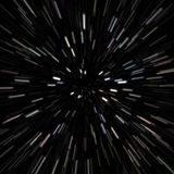 Outer Space Star Field. Illustration of a star field with high speed effects to show movement Stock Image