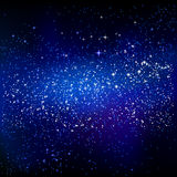 Outer space starry design. Vector astronomic background Royalty Free Stock Images