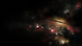 Outer space with stars, nebula and galaxy Royalty Free Stock Images