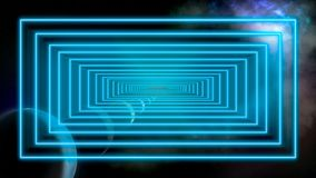 Outer space and time travel concept image stock photo