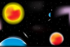 Outer Space vector Stock Images