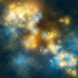 Outer space vector abstrac background with cosmic galaxy and stars. Space and galaxy with star background illustration Royalty Free Stock Image