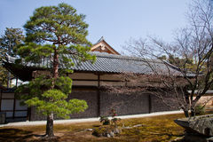 Outer Temple Buildings and Gardens at Kinkaku-ji Royalty Free Stock Photos