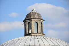 Outer view of dome in Ottoman architecture in Turkey. Istanbul royalty free stock photos