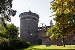 The Outer Wall of Castello Sforzesco (Sforza Castle) Royalty Free Stock Photo