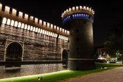 The Outer Wall of Castello Sforzesco (Sforza Castle) Royalty Free Stock Photography