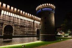 The Outer Wall of Castello Sforzesco (Sforza Castle) Royalty Free Stock Photography
