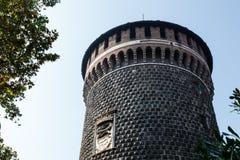 The Outer Wall of Castello Sforzesco (Sforza Castle) Stock Photo