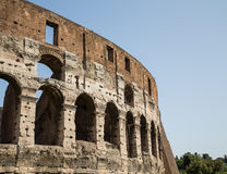 Outer Wall of Coliseum Royalty Free Stock Photo