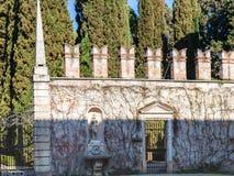 Outer wall of giusti garden in Verona city Royalty Free Stock Photos