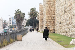 Outer wall of Jerusalem Royalty Free Stock Images