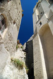 Outer wall of Palace of the Popes Avignon France Stock Photography
