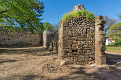 Outer wall of Pirot Fortress,  Serbia Royalty Free Stock Images