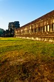 Outer Walls of the Angkor Wat temple Stock Photos