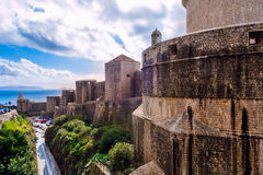The outer walls of the old city of Dubrovnik Royalty Free Stock Photo