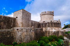 The outer walls of the old city of Dubrovnik Stock Photography
