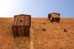 Outer walls of Saint Catherine's Monastery Stock Photos