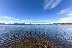 Outerbridge-Überfahrt lizenzfreie stockfotografie