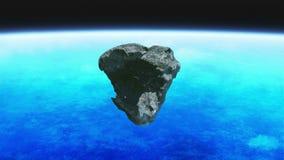 Outerspace del meteorito stock de ilustración