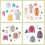 Outerwear kobiety i royalty ilustracja
