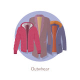 Outerwear Web Banner. Winter Collection for Man Stock Images