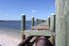 Outfall on the St. Johns River Stock Photos
