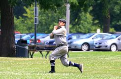 Outfield catch Royalty Free Stock Photo