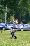Outfield catch Royalty Free Stock Photography